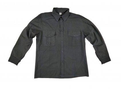 Košile černá dlouhý rukáv Locker