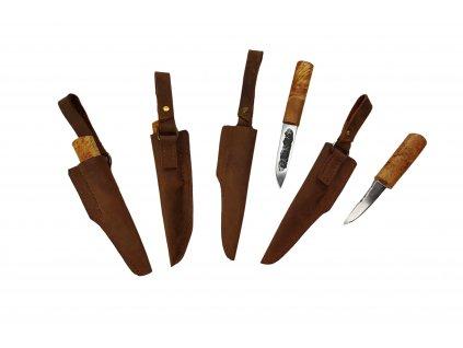 Nůž Yakut v koženém pouzdře Sibiř