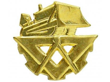 Odznak rozlišovací zlatový pro stavební vojsko (zlatý) AČR