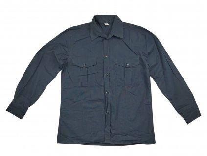 Košile modrá Navy dlouhý rukáv ripstop Locker