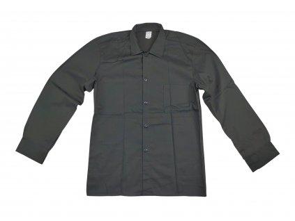 Košile letní dlouhý rukáv černá Locker