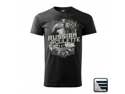 MARS & ARMS tričko s potiskem RUSKÁ RULETA