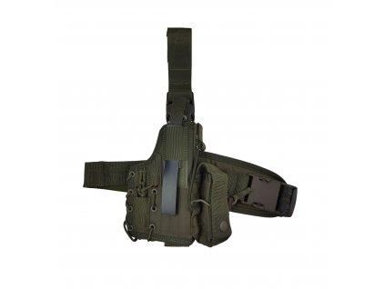 Taktické stehenní pouzdro na Pi CZ 75 SP01 Phantom, Glock 17 SPM (66618) khaki
