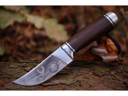 Nůž lovecký Deer s rytinou jelena Kandar  N-131