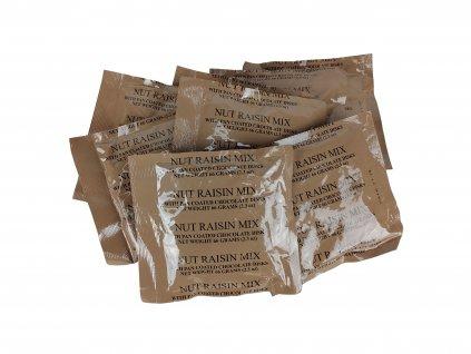 Ořechová směs s rozinkami a čokoládovými lentilkami 66g MRE US