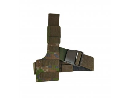 Stehenní platforma na pistolové pouzdro P09 pravá digital les SK molle ALP FENIX-PROTECTOR