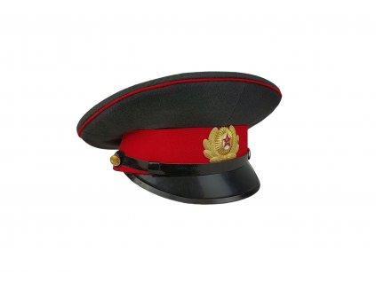 Brigadýrka šedá Policie Rusko červené lemování originál