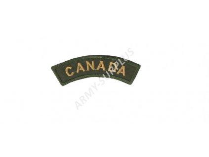 Nášivka CANADA nápis