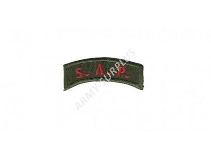 Nášivka S.A.P. nápis