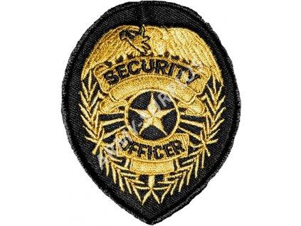Nášivka Security officer zlatá