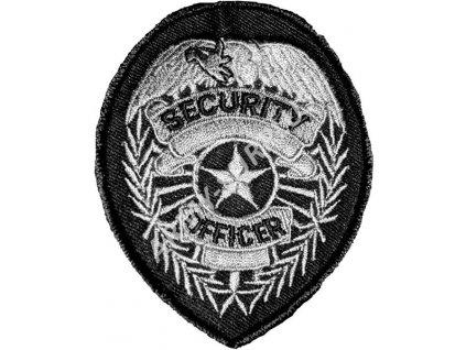 Nášivka Security officer stříbrná
