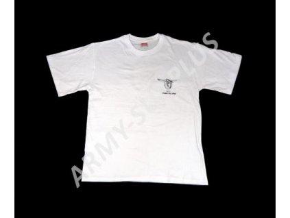 Tričko (triko) potisk Monte Cassino  bílé
