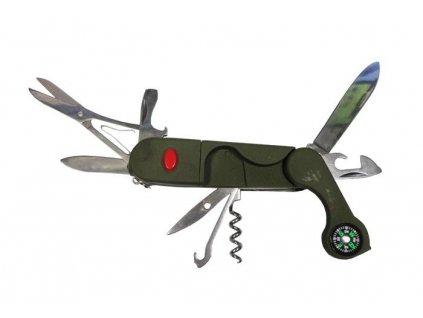 Nůž zavírací multifunkční oliv
