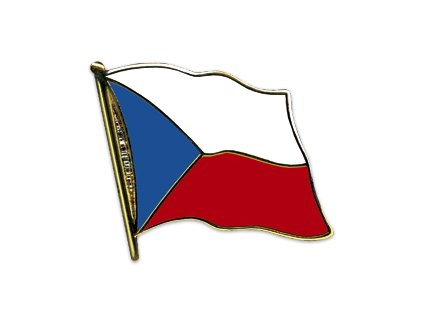 Odznak (pins)  20mm praporek Česká republika