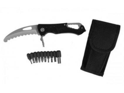 Nůž zavírací záchranářský černý velký