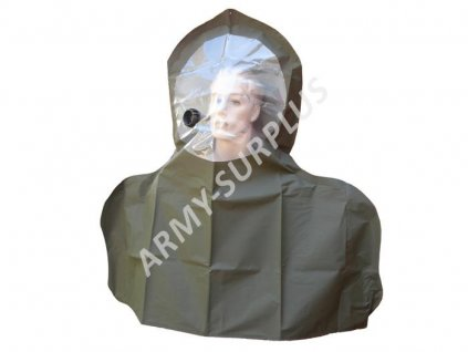 Kapuce (kukla) protichemického obleku ABC k plynové masce