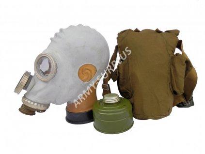 Plynová maska Rusko PMG-2 s brašnou a filtrem bílá