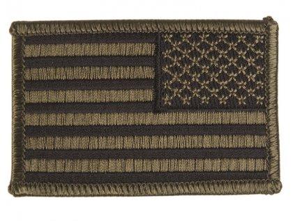 Nášivka vlajka USA bojová polní nažehlovací pravá