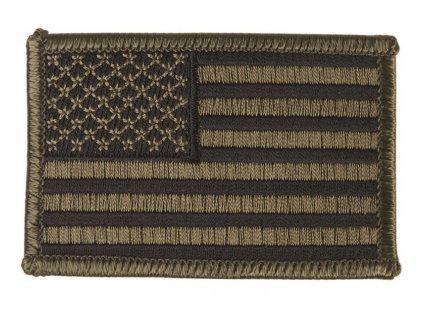 Nášivka vlajka USA bojová polní nažehlovací levá