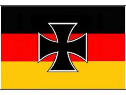 Vlajka Německo s křížem 90x150cm č.71