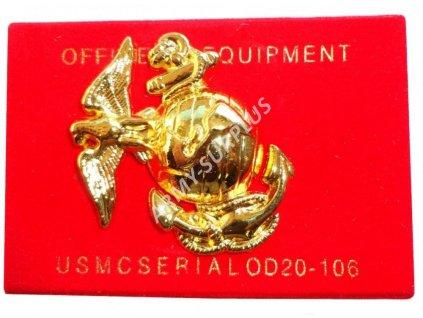 Odznak U.S. Army United States Marine Corps USMC zlatý