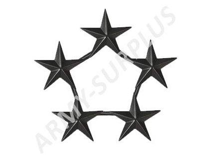 Odznak U.S. Army hodnost General of the Army hvězda černý