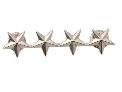 Odznak U.S. Army hodnost General stříbrný