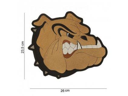 Nášivka Bulldog (buldok) nažehlovací velká