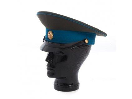 brigadyrka-letec-rusko-zelena-modry-lem-plastovy-podbradnik