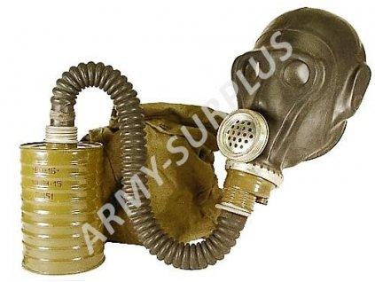 Plynová maska Rusko SchMS (PRWU) černá