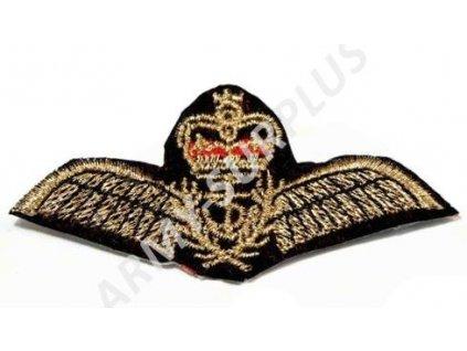 Nášivka křídla a koruna nažehlovací