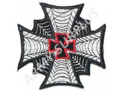 Nášivka kříž s pavučinou nažehlovací