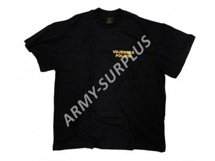 Triko potisk Vojenská Policie (Nátělník VP krátký rukáv) černé
