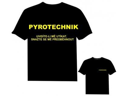 Tričko (triko) potisk pyrotechnik s nápisem
