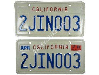 Poznávací značka na auto (License Plates) USA California