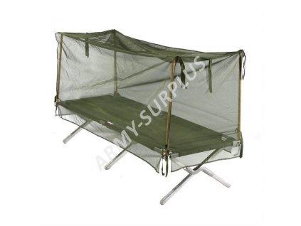Moskytiéra US na polní lůžko (postel) oliv