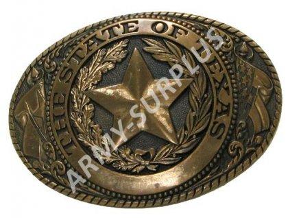 Přezka na opasek Western The State of Texas - mosaz B0967