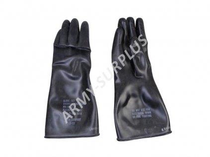 Rukavice gumové US k protichemickému obleku originál