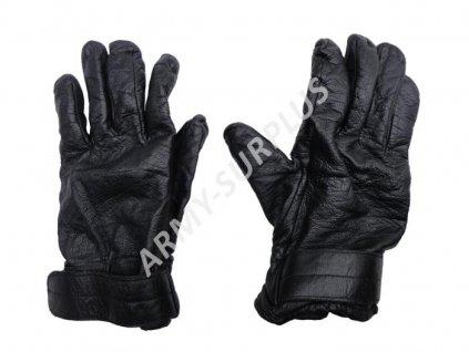 Rukavice zimní kožené Rakousko černé