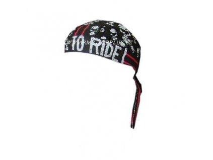 Šátek pirát skull live to ride