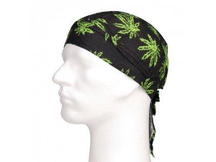 Šátek pirát cannabis (tráva)