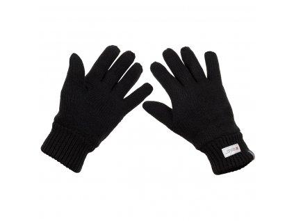 Rukavice pletené Thinsulate černé MFH