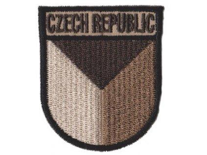 Nášivka AČR CZECH REPUBLIC česká vlajka CZ pilot vz.95 písková béžová pouštní