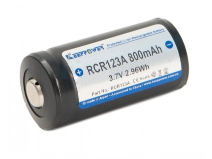 Akumulátor (nabíjecí baterie) Li-ion 16340 RCR123A 800 mAh 3,7V  Keeppower