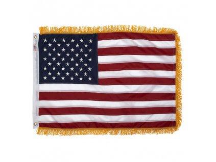 Vlajka USA s třásněmi 91x152cm vel.M