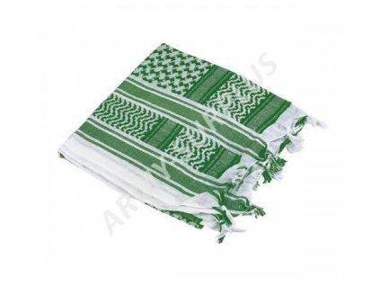 Šátek palestina bílá/světle zelená (shemagh, arafat)