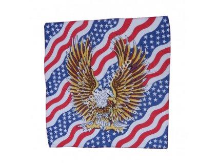 Šátek potisk čtvercový orel USA