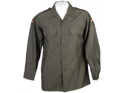 Košile BW (Bundeswehr) oliv dlouhý rukáv zánovní originál