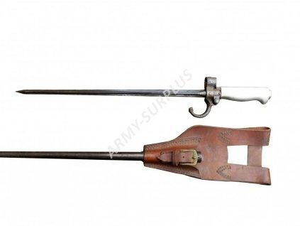 Bodák Francie Lébel M1886 se závěsem a pochvou WWI