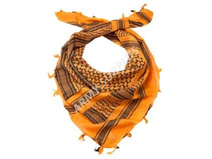 Šátek palestina oranžová/černá (shemagh, arafat)
